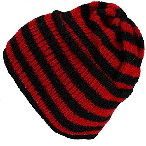 Loud Hats - Gorro de Punto - para Hombre Rojo Rosso Talla única
