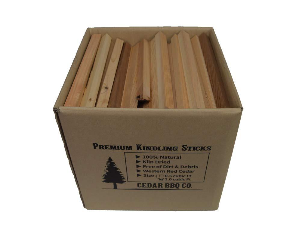 Cedar BBQ Co. Cedar Kindling Firestarter - Kiln-Dried - All Natural Red Cedar Aromatic - 16 Lb (1.0 Cubic Foot)