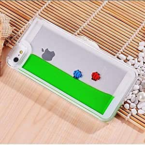 Built-in Free Fish with Water Style Transparent PC Case for iPhone 5/5S , Rose