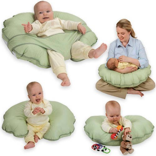 Leachco Infant Nursing Pillow (Cuddle-U Infant Support Cushion by Leachco, Sage)