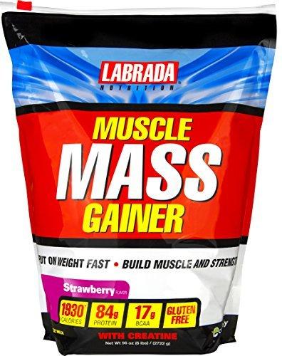 Labrada Nutrition Muscle Mass Gainer, Strawberry, 6 Pound by Labrada B01MQVHD1T