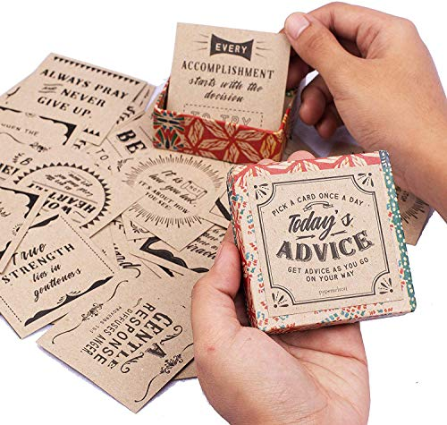 Todays Advice Inspirational Cards Deck | Positive Affirmations Cards for Daily Encouragements | Great Assorted Cards for All Occasions | Unique Inspirational Gifts for Women and Men