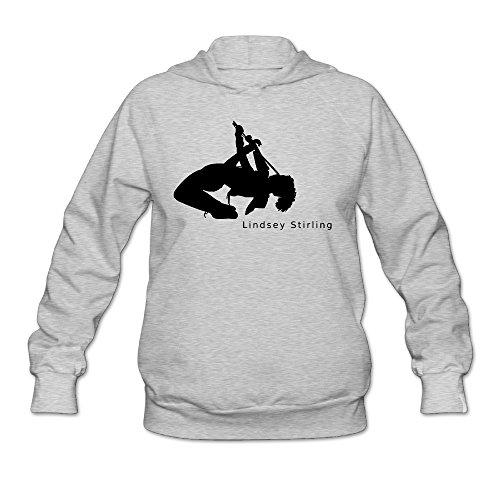 Jirushi Women's Brave Enough Lindsey Stirling Hooded Sweatshirt Ash Large (Last Midnight Sheet Music)