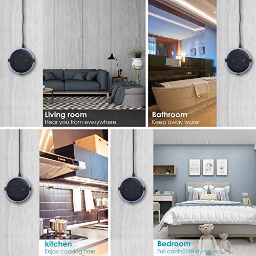 SODIAL Support de Support de Support Mural en Aluminium en M/étal pour  Echo Echo Dot Haut-Parleur Bluetooth de 3/ème G/én/ération