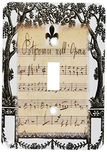 3d Rose 3dRose lsp_182535_1 Print of French Vintage Music...