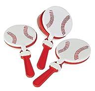 Fun Express Plastic Baseball Clappers Set (1 Dozen)