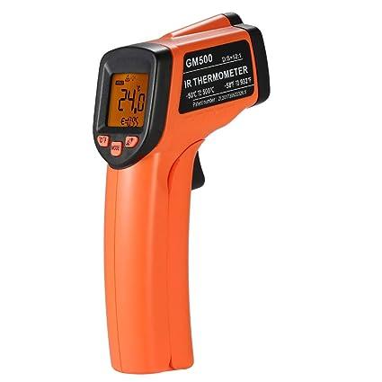 KKmoon Termómetro infrarrojo infrarrojo de mano sin contacto Probador de temperatura digital 12: 1 Pirómetro