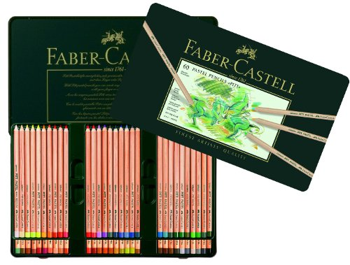Faber-Castel FC112160 PITT Pastel Pencils In A Metal Tin (60 Pack), (Pastel Pencil)