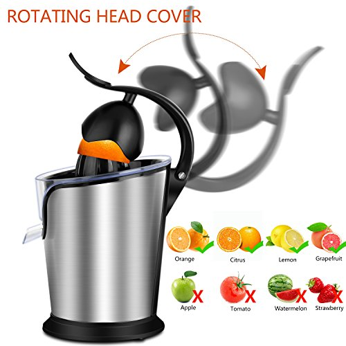 SOWTECH Citrus Juicer Stainless Steel Electric Orange Citrus Juicer Extractor Pulp Control Squeezer Machine [Ultra Quiet] [Precision of a Hand-Press] with The Direct Drive Motor by SOWTECH (Image #3)