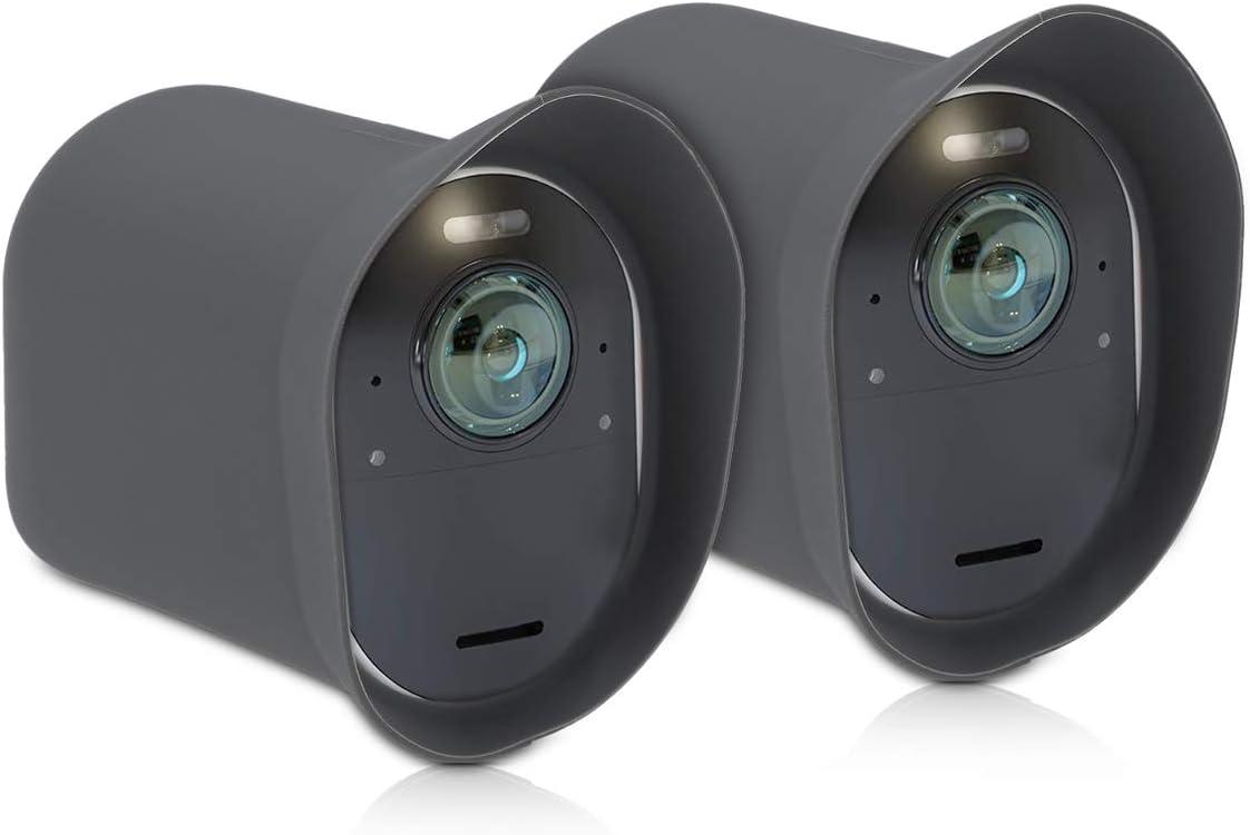 Kwmobile 2x Hülle Kompatibel Mit Arlo Ultra Arlo Pro 3 Silikon Security Camera Cover Schutzhülle Kamera Grau Baumarkt