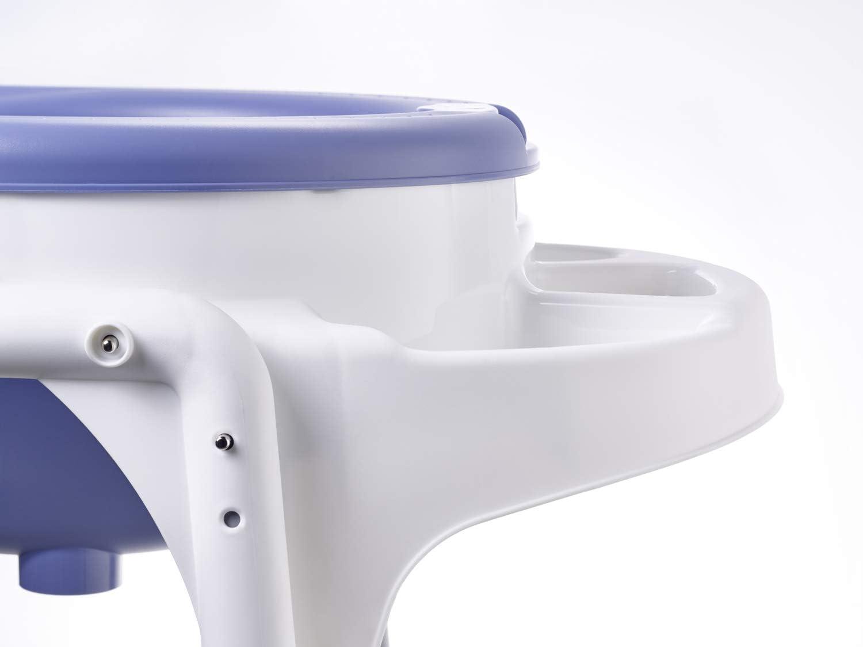 Rotho Babydesign TOP Station de Bain 21042 0289 01 Support de Baignoire 0-12 Mois Dossier de Baignoire et Tuyau de Vidange Sky Blue Avec Baignoire pour B/éb/é