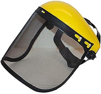 Visor de protección con malla, máscara, Casco de seguridad con ...