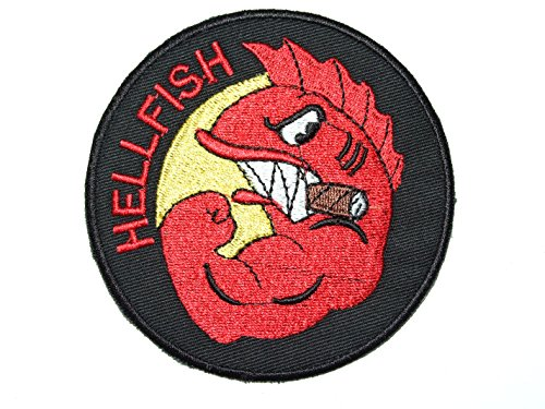 patchking-simpsons-the-curse-of-the-flying-hellfish-ww2-comic-patch-aufnaher
