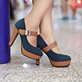 Gyouanime High Heel Sandals Shoes Women Ankle