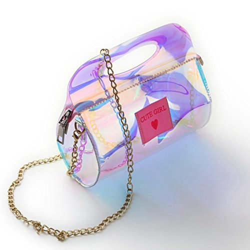 bandouliere Voyage Portable Chaine Sac a la a A au SODIAL main mode Sacs Cylindre transparents WnYqnw6PH