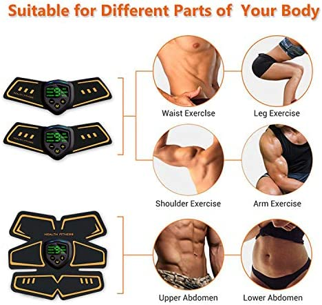 Abs Stimulator Abdominal Muscle, Muscle Stimulator, EMS ABS Trainer Body Toning Fitness, USB Rechargeable Toning Belt ABS Fit Weight Muscle Toner Workout Machine for Men & Women 3