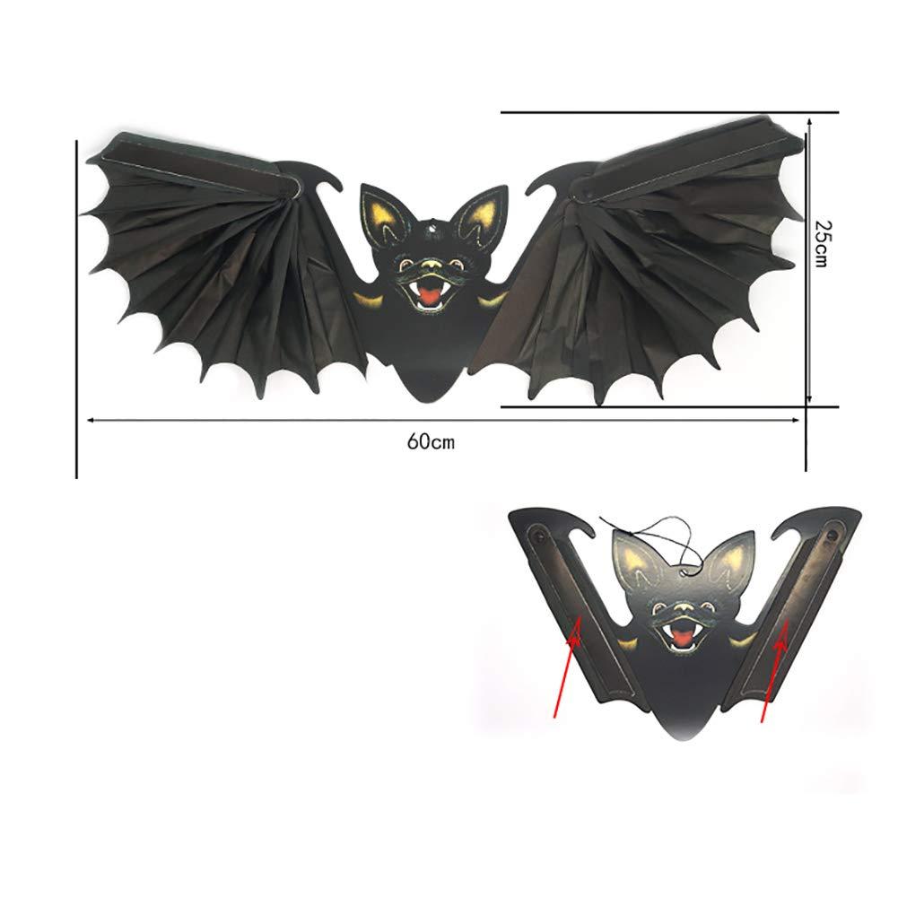 Hemore Jouet éducatif Cadeau pour   Ghost Festival Restaurant Pendentif Chauves-Souris Flying Sky Bat Black Pack 1 | Facile à Nettoyer Surface