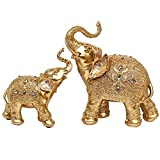 Large Size Feng Shui Mother and Baby Elephant Wealth Lucky Statue/Figurine,Home Decor Gift
