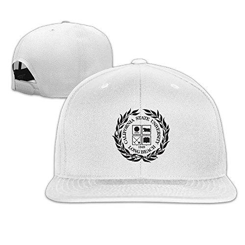 California State University, Long Beach Snapback Flat Baseball Fit Cap White