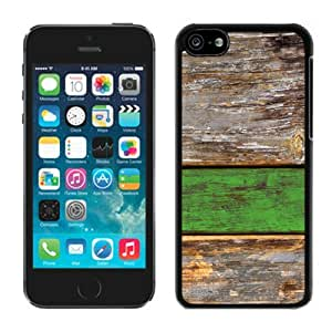 TPU Graceful Protective Phone Case for Iphone 5c Old Green Wood Texture Black Soft Silicone Mobile Phone Cover