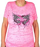 pink camaro shirt - Hot Rod Apparel Company Women's Chevy Camaro Winged Pink Lightweight T-shirt