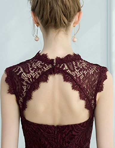DRESSTELLS Women's Elegant Open Back Lace Cocktail Dress for Special Occasions