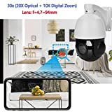 Outdoor 5MP PTZ IP POE Dome Security Camera 30x