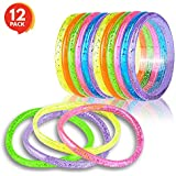 "ArtCreativity Liquid Glitter Bracelets (Pack of 12) | 6"" Pieces 
