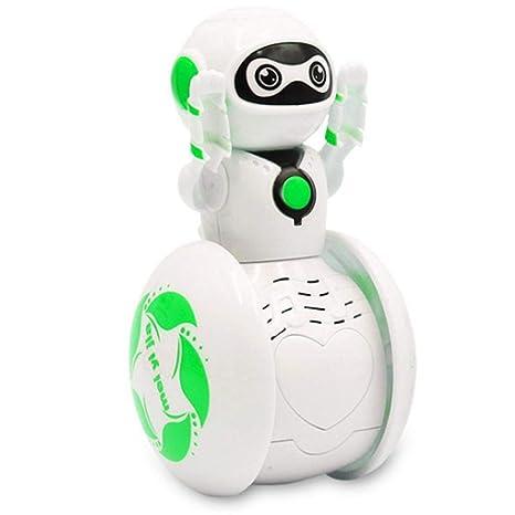 Kaimu Mini Tumbler Robot Cartoon Multi-Function Induction Intelligent Music Robot Balancing Robot