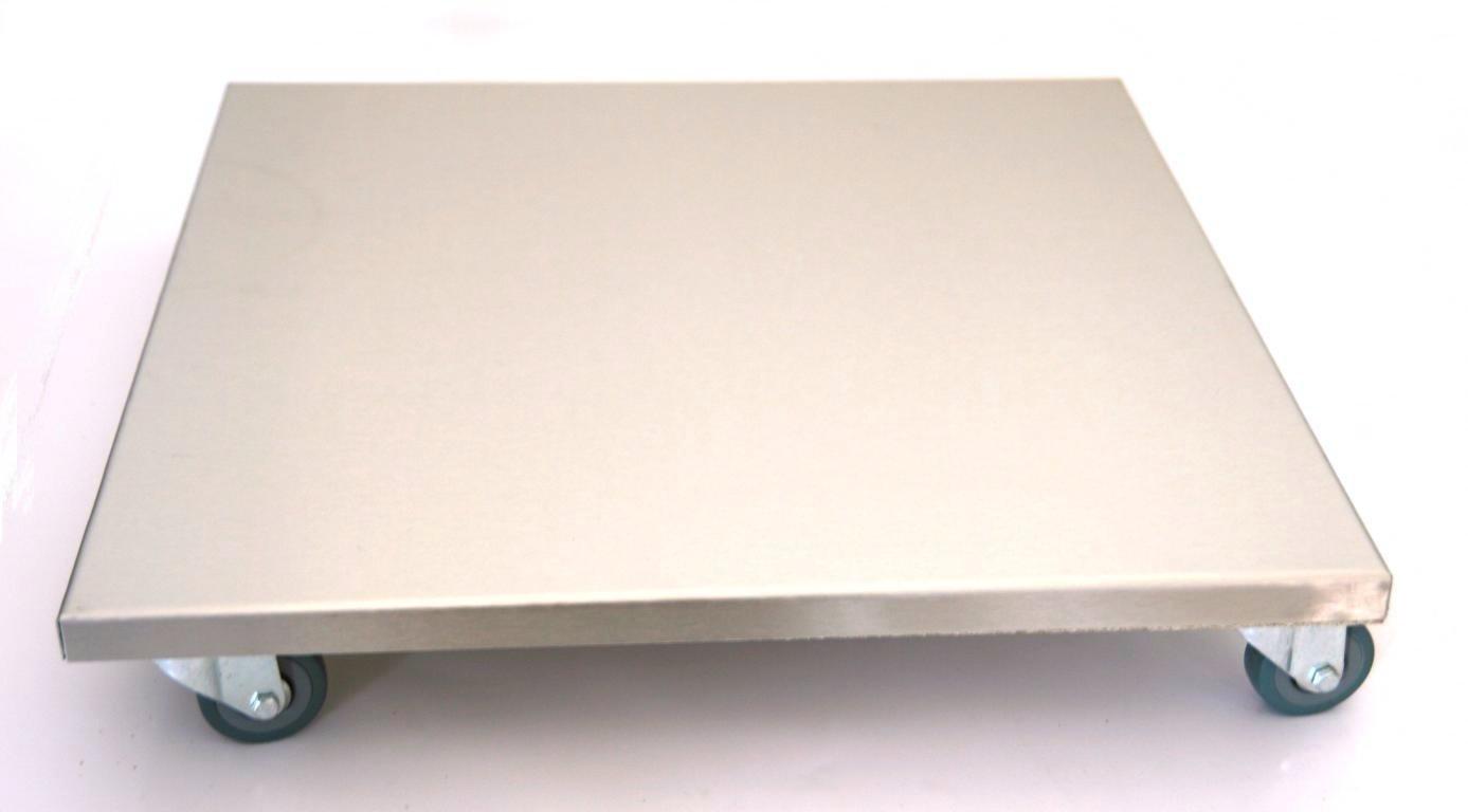 mobelroller pflanzenroller profi 40x40 cm edelstahl 150 kg pu rolle marke szagato made in germany design pflanzenroller transportroller