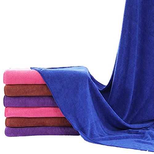 HUPLUE 4 Toallas de Microfibra de Secado Grueso para Coche, absorbentes, para Limpieza de Coches, de Doble Capa, de Felpa: Amazon.es: Hogar