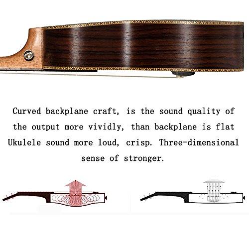 23-inch Hawaii ukulele rosewood professional concert Ukulele send tuner trim folder thick piano bag - Image 6