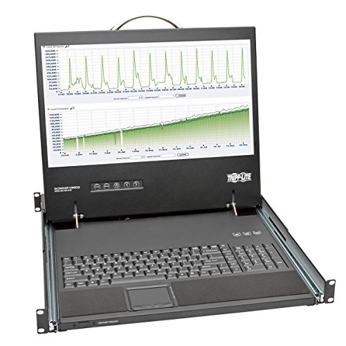 Console Short Depth Steel with Keyboard, Touchpad, 19-Inch LCD 1URM (B021-000-19-SH) ()