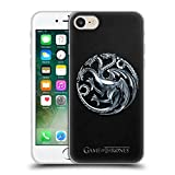 Official HBO Game Of Thrones Silver Targaryen Sigils Soft Gel Case for Apple iPhone 7 / iPhone 8