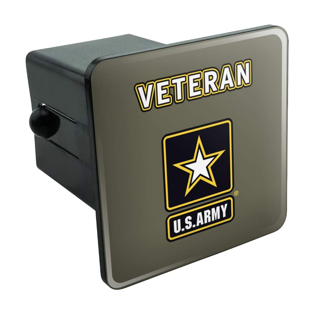 Graphics and More U.S. Army Veteran Logo Tow Trailer Hitch Cover Plug Insert by Graphics and More