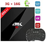 Android 7.1 TV Box 3G/16G Amlogic S912 Octa Core H96 PRO Plus + 2.4Ghz Mini Wireless QWERTY Keyboard Support HDMI 4K HDR BT4.1 2.4G/5.0GHz WiFi