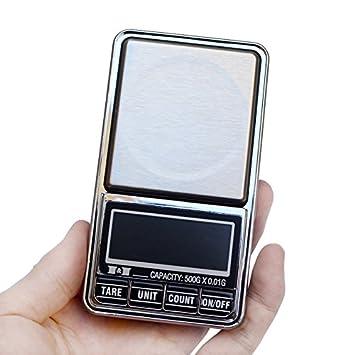 Escala de joyería Dongjinrui 500G X 0.01G Mini Balanzas Digitales balanzas electrónicas Balanza de bolsillo joyas moneda de oro de 0,01 gramos de peso ...