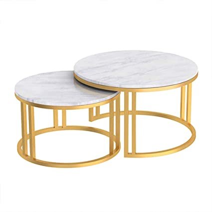 Amazon.com: Modern 2 Nest of Coffee Table Sets Side Table ...