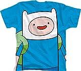 Bioworld 6-14 Adventure Time With Finn T-Shirt BLUE Medium 10-12