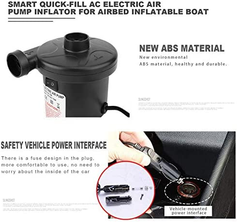 ArgoBar Smart Quick-Fill AC Electric Air Pump Best for Airbed Inflatable Boat kids Paddling Pool /& Toys Inflator and Deflator
