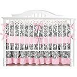 7 pieces set ruffle grey pink floral baby crib nursery