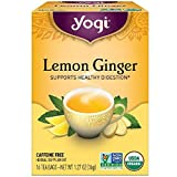 Yogi Tea Lemon Ginger Tea Bags 16 ea (pack of 8)