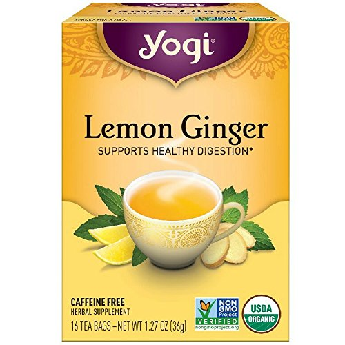 Yogi Tea Lemon Ginger Tea Bags, 16 Count (Yogi Ginger)