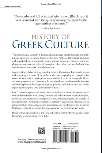 History of Greek Culture: Jacob Burckhardt, Palmer Hilty ...