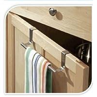 Cupboard Towel Bar Rail Over Door Hanger Hook Kitchen Towel Bathroom Drawer