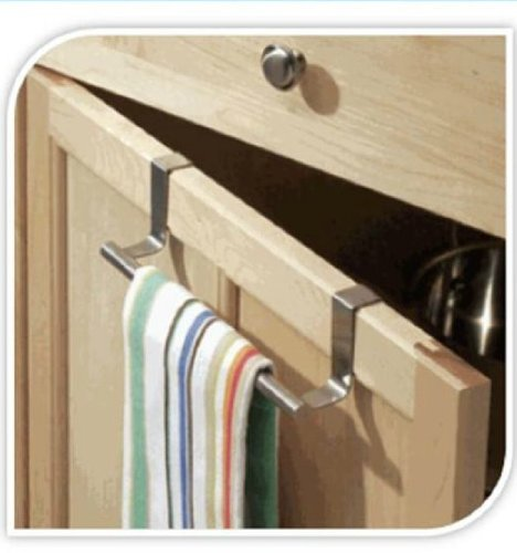 Cupboard Towel Bar Rail Over Door Hanger Hook Kitchen Towel Bathroom Drawer SWL