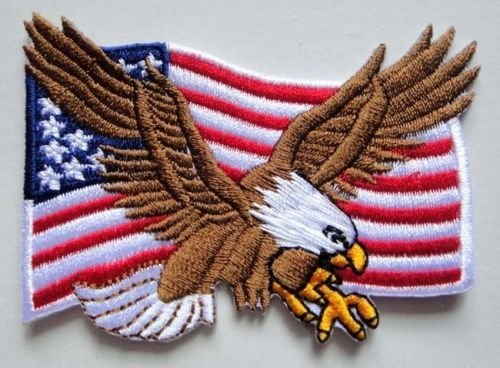 USA Flag Eagle Motorcycles Biker Rockabi - Motorcycle Biker Eagle Jacket Shopping Results