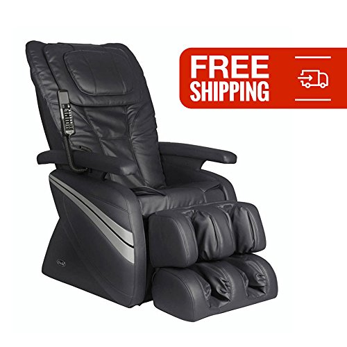 Therapeutic Shiatsu Reclining Massage Chair- Osaki OS-1000 with Intelligent Roller System, Added Neck Massage and Fatigue Relieving Adjustable Air Massage (Black)