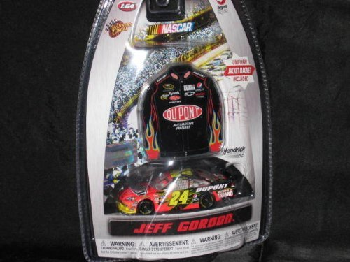 2010 Jeff Gordon #24 Dupont Flames Impala COT 1/64 Scale Diecast and Bonus Matching Mini Replica Magnet Driver Uniform Jacket Winners Circle Edition by Winners - Impala Dupont