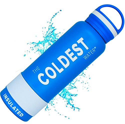 The Coldest Water Sports Bottle Insulated Stainless Steel Hydro Thermos, Sailor Blue, 21 Ounce